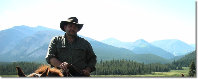 photo of Randy in the Rocky Mountains horseback riding